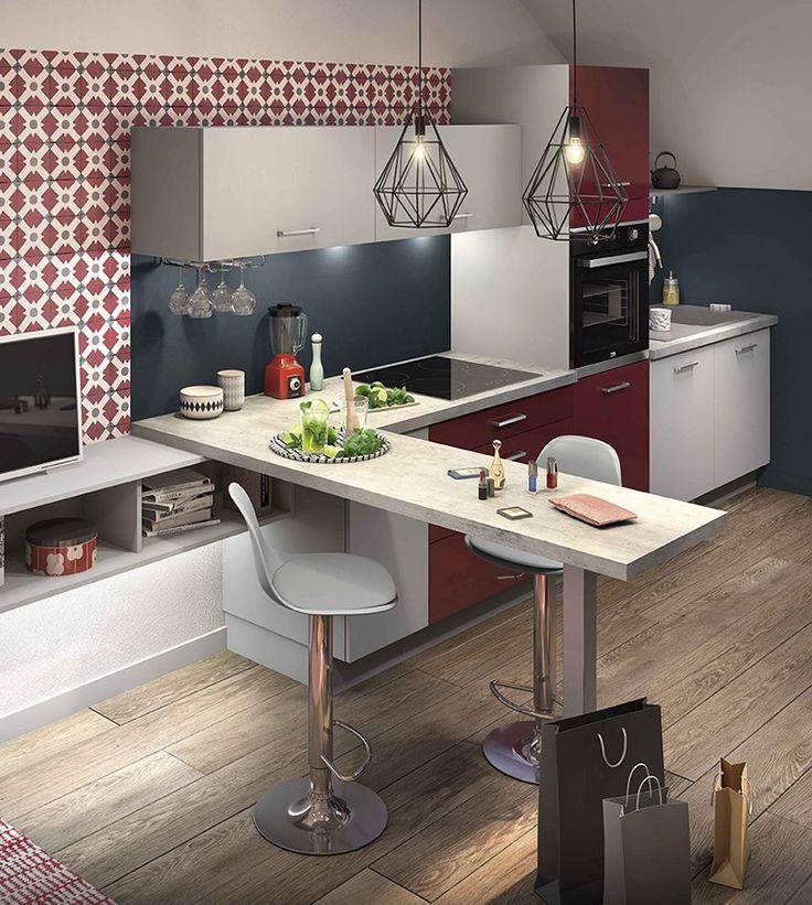Les 25 meilleures id es de la cat gorie petite cuisine for Cuisine equipee ouverte sur salon