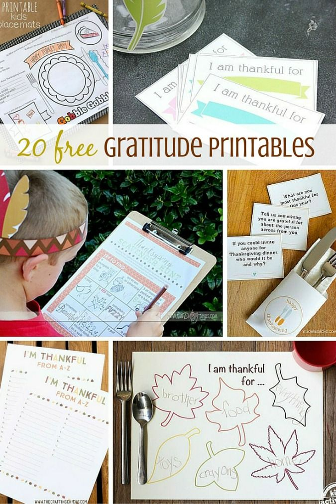 FREE Thanksgiving Printables from gratitude lists and gift ideas to