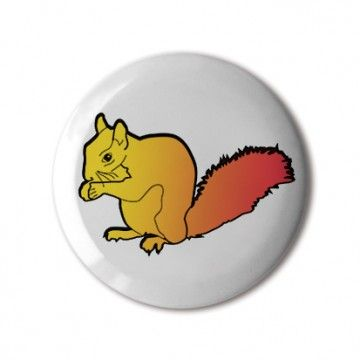 🆕❤️ #BBOTD Stereohype #button #badge of the day by Stereohype — #stsqs1 #squirrel #squirrels #mascot #yellow #red #gradient #minimal #graphicart #fashion #accessories #accessorize #menstyle #menswear #mensfashion #womenstyle #womensfashion #unisex #style #lapel #pin #london #giftidea #uk #illustration • Also available as Button Badge Motif Print. #stbbmp