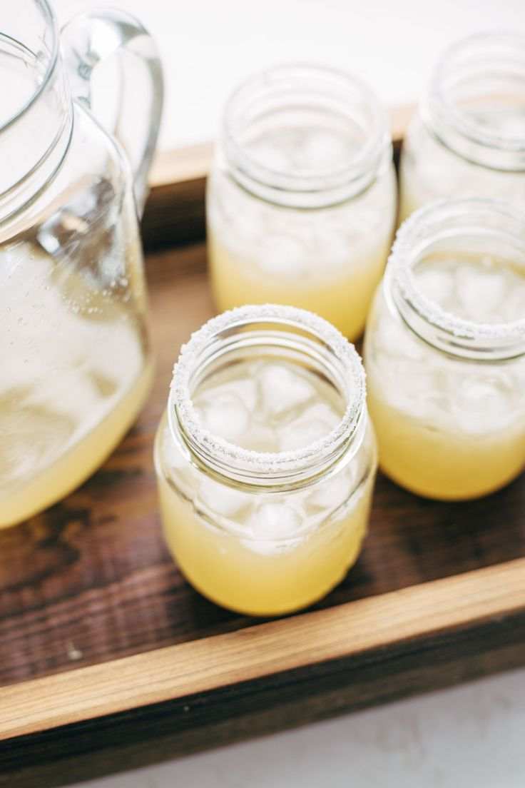 Pitcher Margaritas for a Crowd - all you need is simple syrup, lime juice, and tequila. These make THE BEST party drinks!