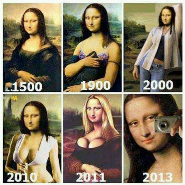 Yikes, self portraits over the years......too funny. Selfies anybody !!! lol pretty much