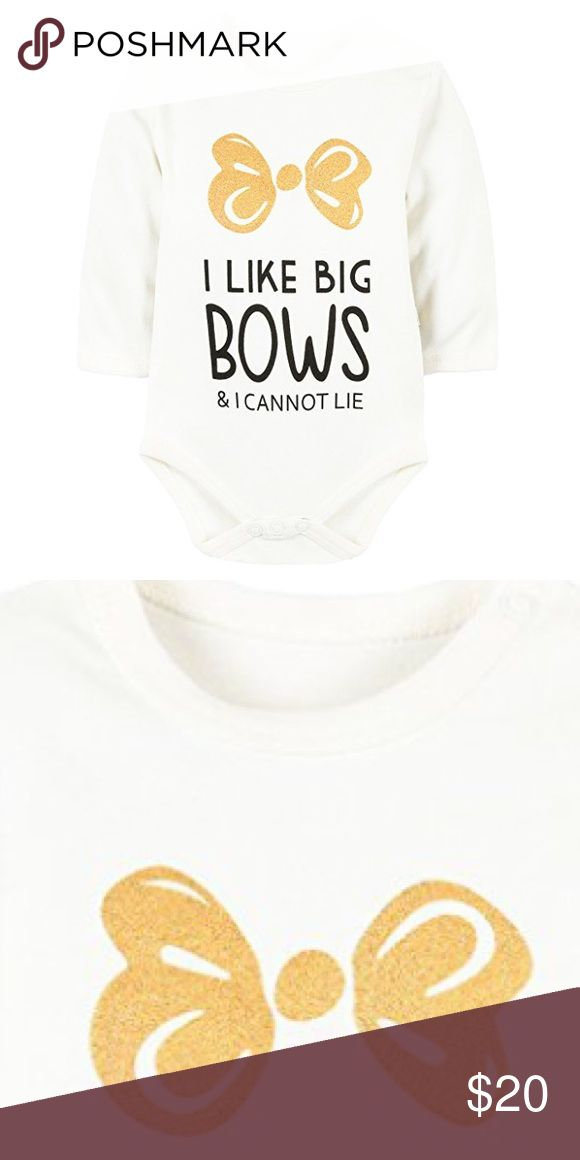 NWOT Baby Girl's Adorable Bow Quote Bodysuit Brand new. One Pieces Bodysuits