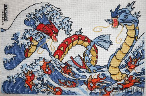 The only way to make The Great Wave greater is to add Gyrados. #gyrados #magikarp #pokemon #crossstitch @lordlibidan  https://lordlibidan.com/pokemon-great-wave-cross-stitch/pic.twitter.com/WmBXpJaarJ