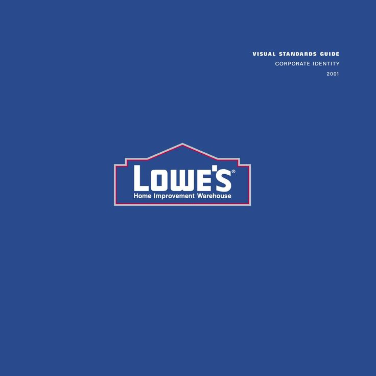 Lowes brandbook. A set of rules describing identity of home improvements firm