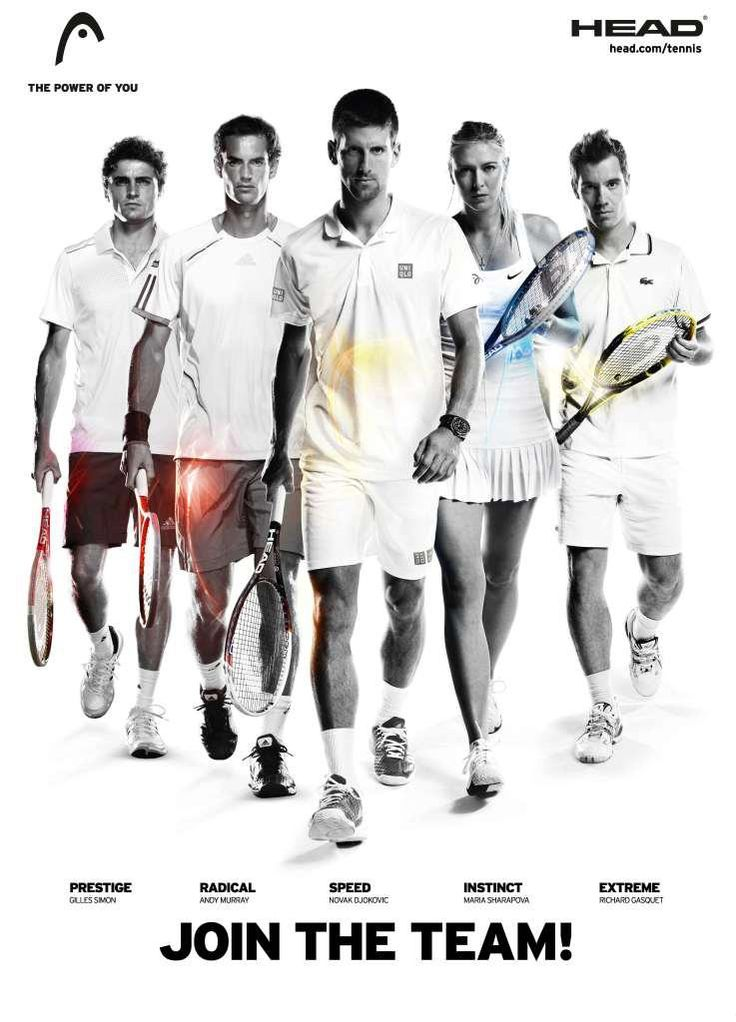 HEAD Tennis (Gilles Simon, Andy Murray, Novak Djokovic, Maria Sharapova,  Richard