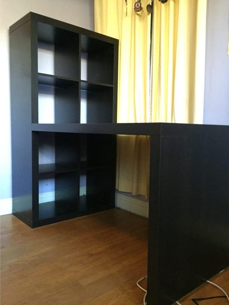Bookcase Desk Ikea in 2020 | Ikea desk, Ikea standing desk, Ikea desk top