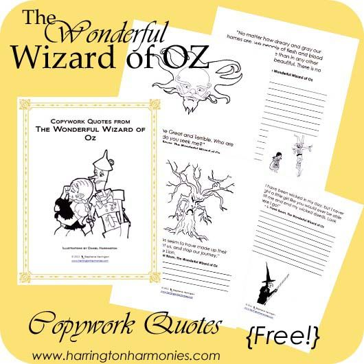 Wizard of Oz Copywork | Harrington Harmonies