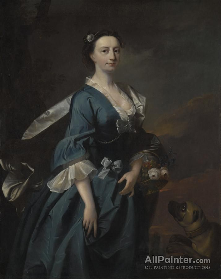 Thomas Hudson,Mrs.john Wendt oil painting reproductions for sale