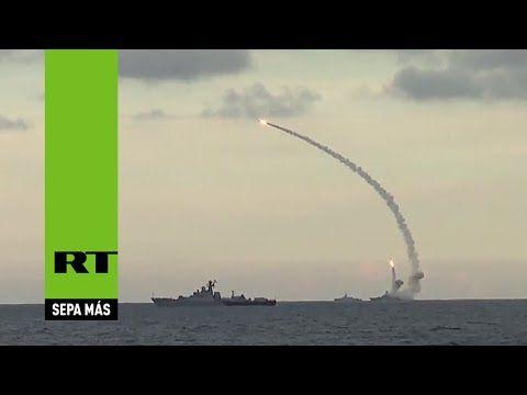 PRIMERAS IMÁGENES: La Armada rusa azota al EI con misiles de crucero desde el mar Caspio - RT