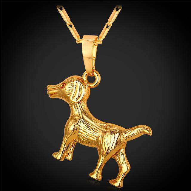 New Fashion Dog Necklace for Men / Women (Available in Gold, Platinum Colors)
