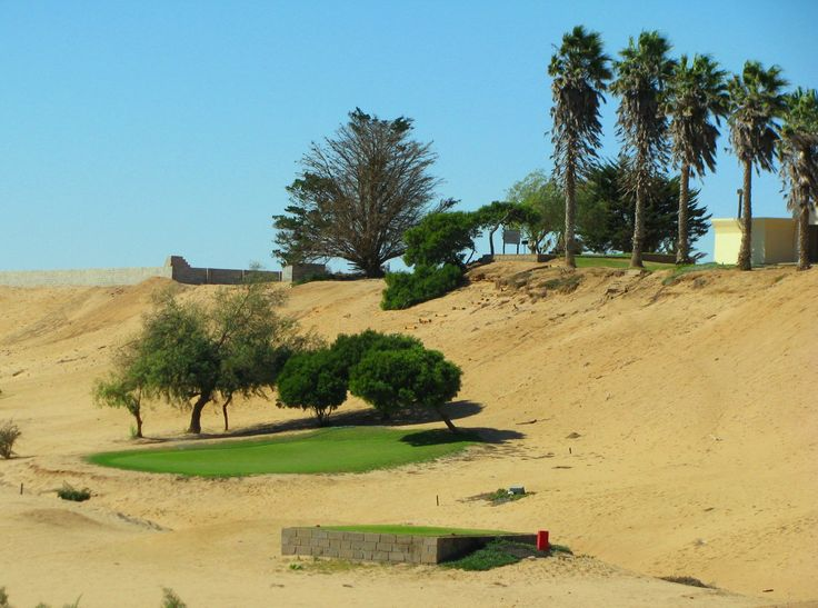 "Hentiesbaai golf course, only the ""green"" is green!"