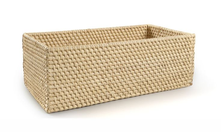 Buy Palm Towel Basket by Waterworks - Quick Ship designer Accessories from Dering Hall's collection of Contemporary Transitional Baskets.