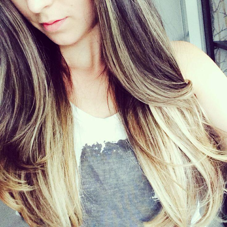 Icy blonde ombré. Love!!! #hair #ombre #blonde #brunette #redken #wavy