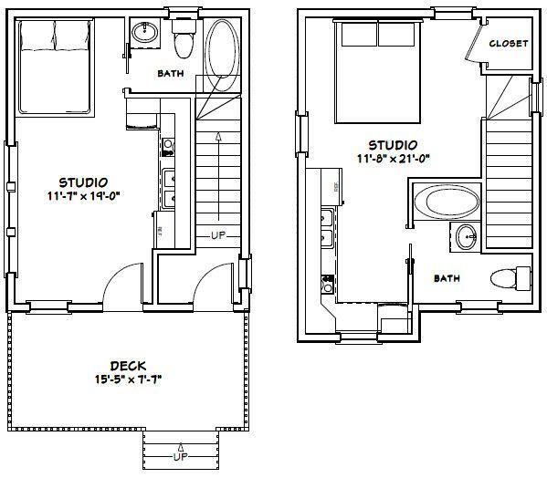 16x20 Duplex -- #16X20H14B -- 574 sq ft - Excellent Floor