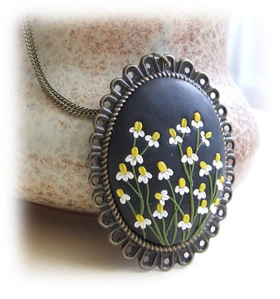 Flower Jewelry Camomile Flower Jewelry Flower by Floraljewel, $41.00