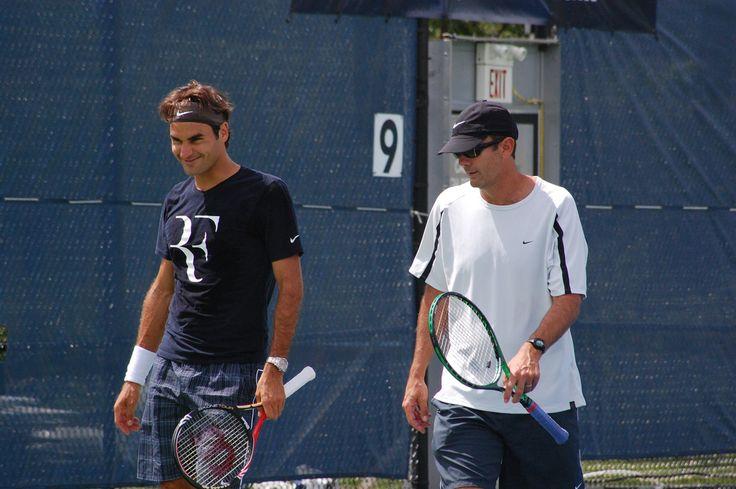 Roger Federer and Paul Annacone