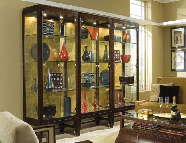 3 luxurious curio cabinets with lighting