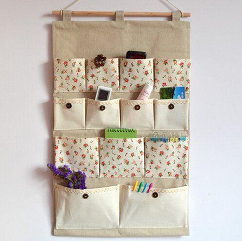 Tür Wandbehang 13-Taschen Gadget Aufbewahrungstasche Pouch Organizer Wandtasche Faltbar Tasche Wandregal Hängeorganizer,45*75CM,Blumenmuster: Amazon.de: Küche & Haushalt