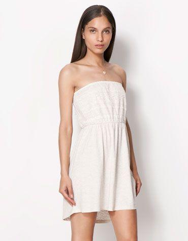 Bershka Singapore - BSK tulle detail chest dress