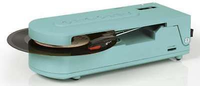 Record Players Home Turntables: Crosley Revolution Portable Battery Power Usb Turntable Record Player Turquoise BUY IT NOW ONLY: $69.95