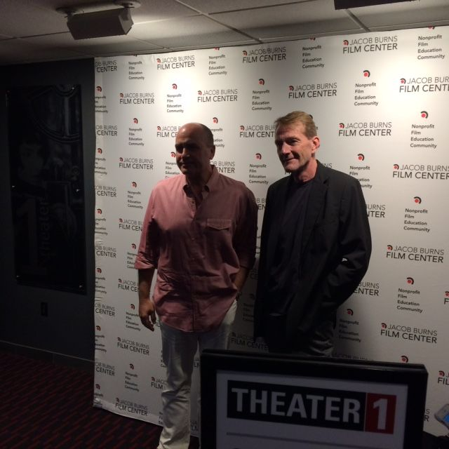 "Just returned from a screening of (producer) son Don Granger's new movie ""Never Go Back.""  Tom Cruise as Jack Reacher.  A thrilling movie based on Lee Child's book.  Don and Lee pictured."