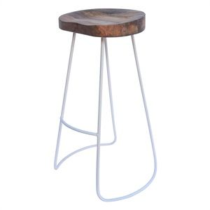 Seville Stool White Metal Base