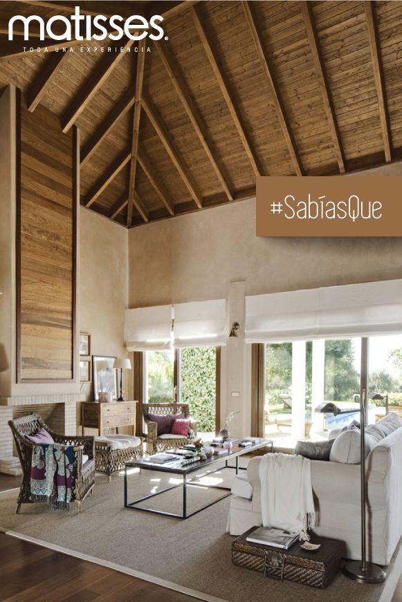 #SabíasQue los techos altos y en madera, son característicos de los ambientes rústicos y hogares ubicados en una zona calurosa.