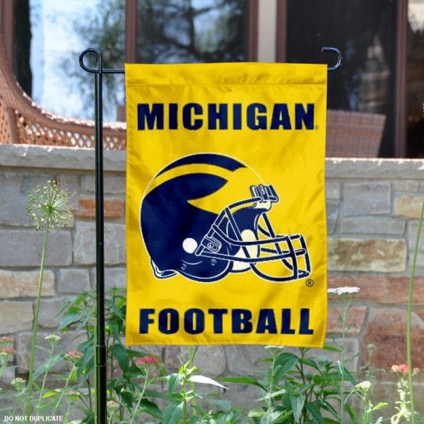 Michigan Wolverines Football Garden Flag is 13x18 inches in size, made of 2-ply poly, and screen printed University logos and insignias. Our Michigan Wolverines...