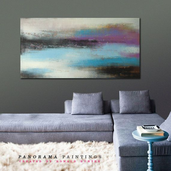 Landscape Abstract painting Purple colored by PanoramaPaintings, $399.00