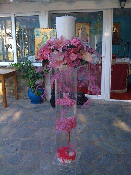 Λαμπάδα Γάμου plexi-glass και κερί