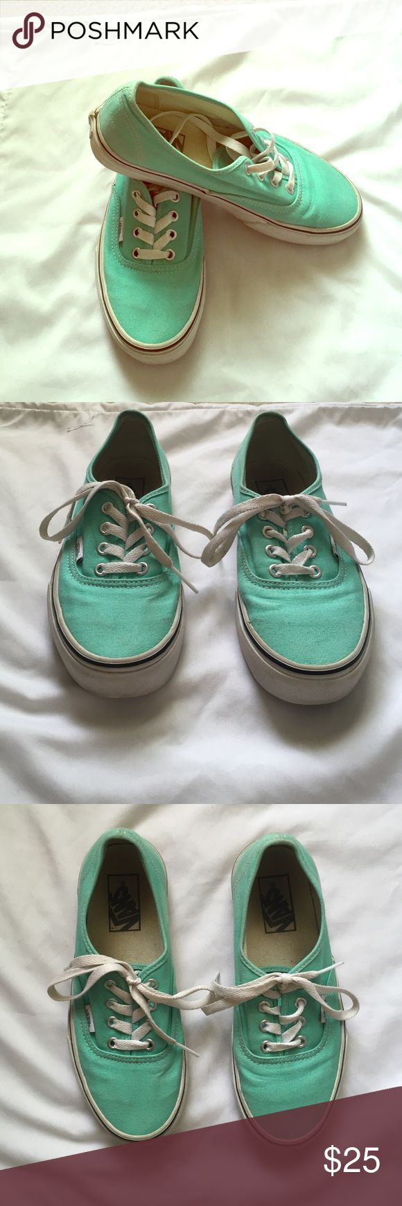 Tiffany blue vans These shoes have only been worn about 3 times! They are in really good condition so feel free to offer😊 Vans Shoes Sneakers