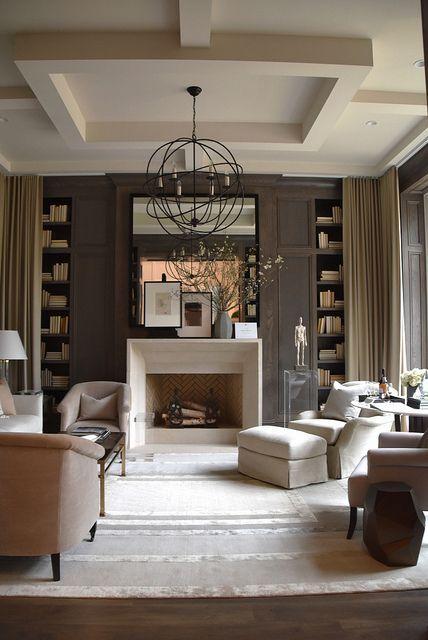 transtitional style living room via belle vivir blog