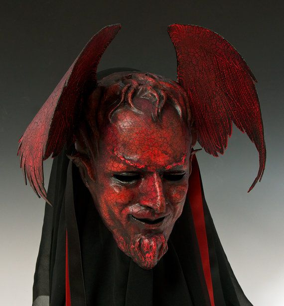 Faust's Mephistopheles by TheArtOfTheMask on Etsy - red devil mask with wings