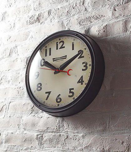 Engineered-clock ブラック+ビンテージ:ヴィンテージ&レトロ,ブラック,Home's Style(ホームズスタイル)の掛時計の画像