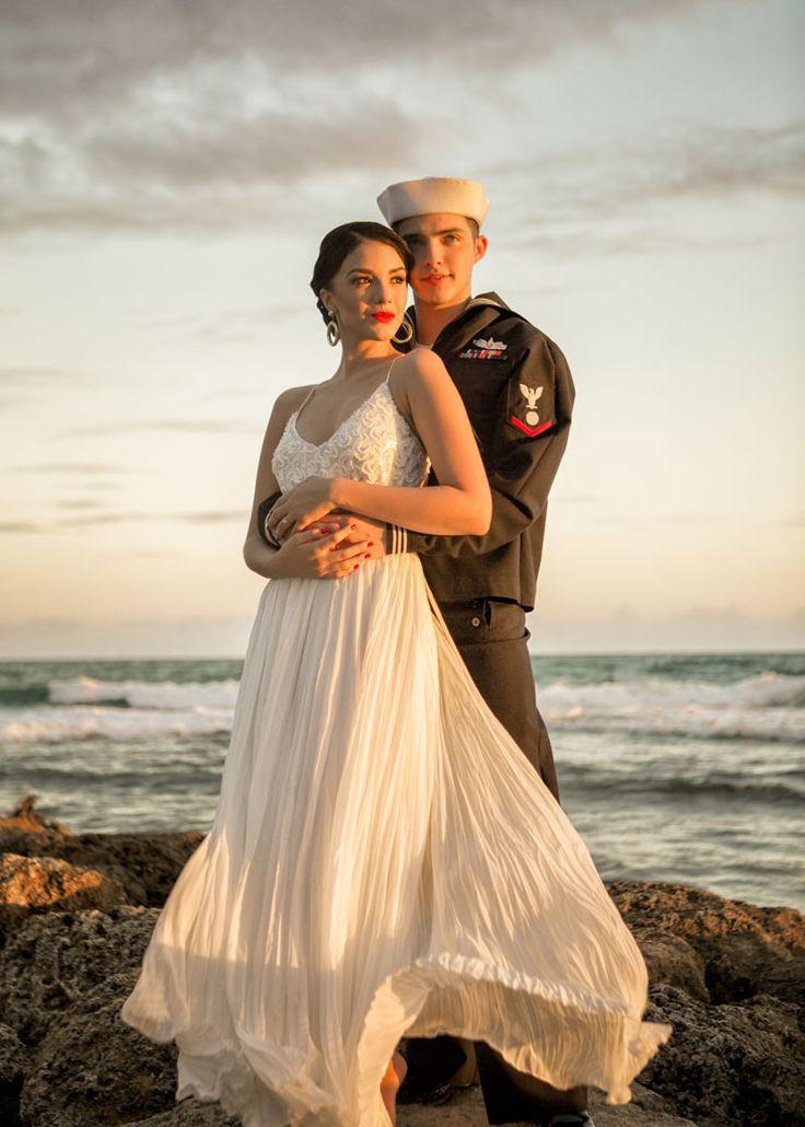 Gorgeous Navy engagement photos #weddingphotography