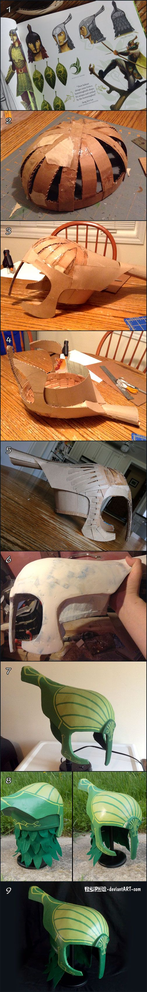 Leaf Man Helmet Creation Process by Pasiphilo.deviantart.com on @deviantART