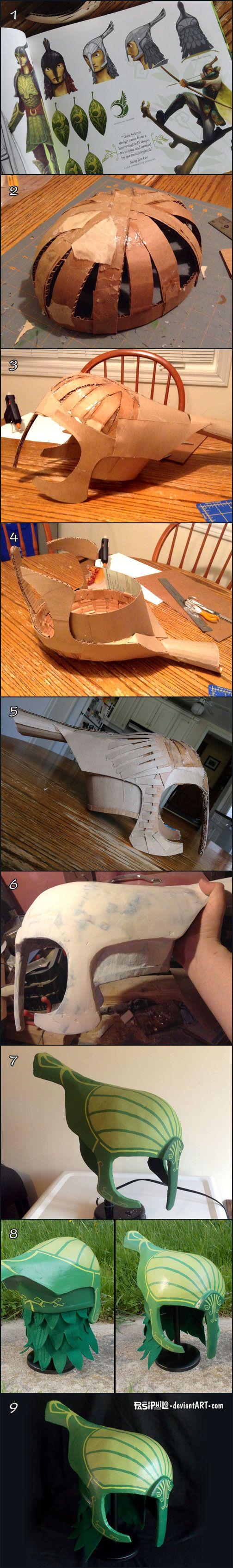 Proceso de creación de casco del hombre hoja   -   Leaf Man Helmet Creation…
