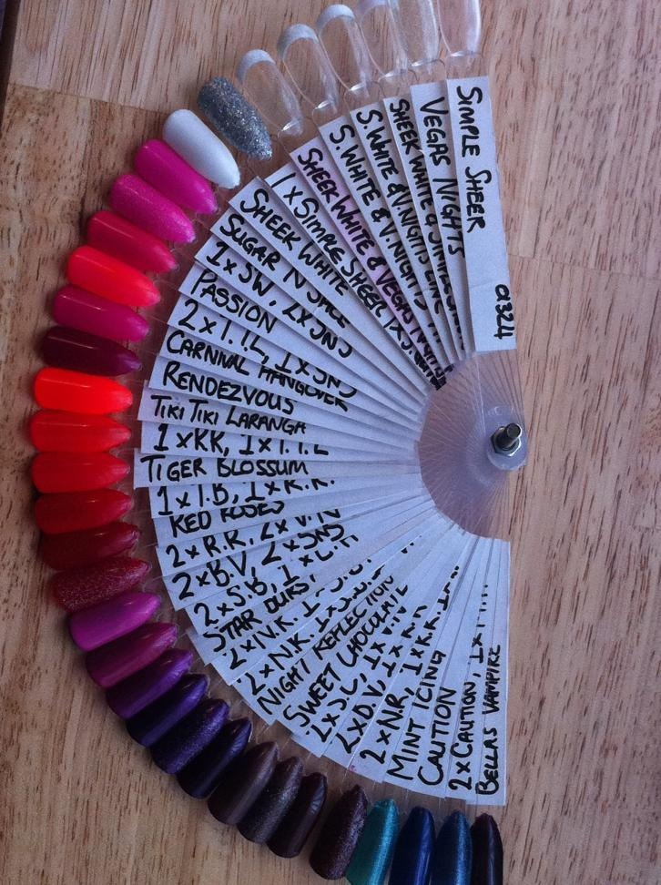 Sample Nail Tip Fans With Labels... Would Be An Awesome