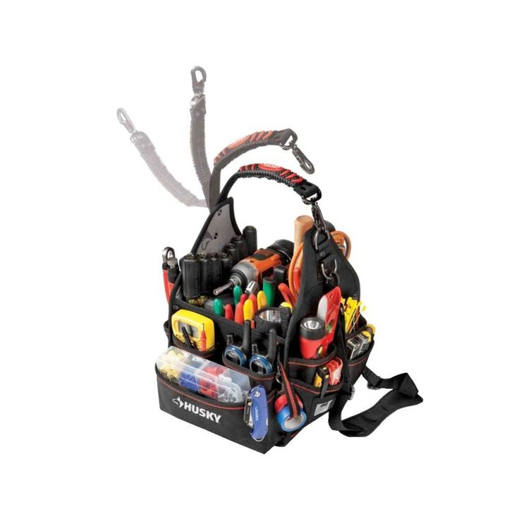 Husky 10 in. Electrician Bag with Driver Wall-88593N11 - The Home Depot
