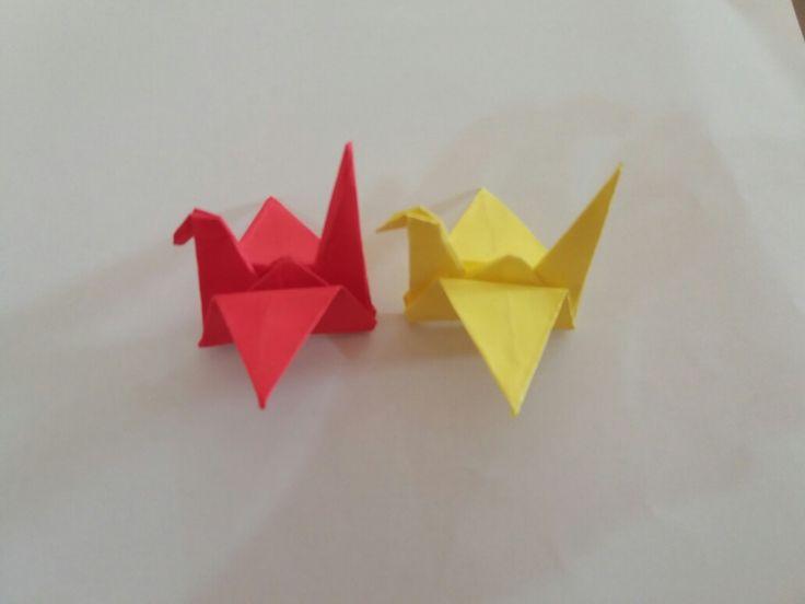 Paper cranes (simple origami)