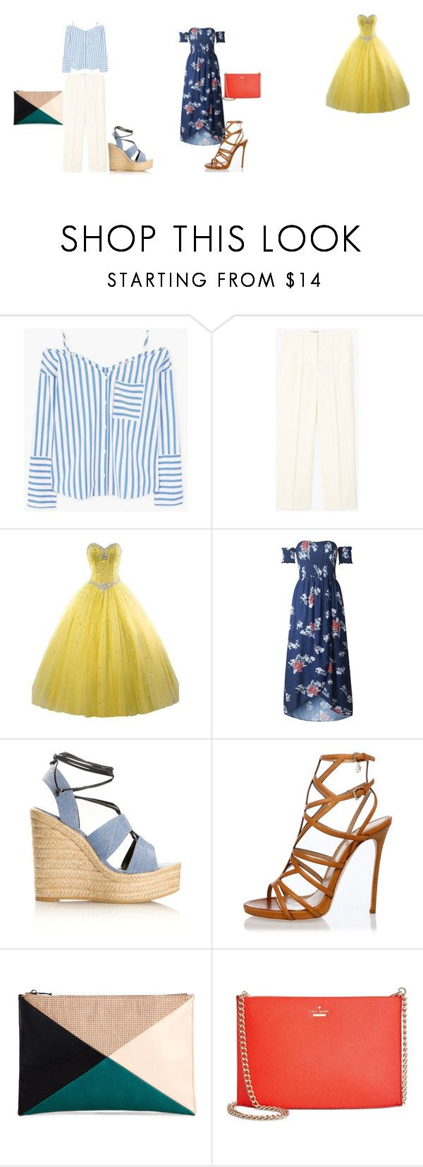 """""""Tenue pour Johanna"""" by clara-boudon on Polyvore featuring mode, MANGO, Yves Saint Laurent, Dsquared2, Sole Society et Kate Spade"""