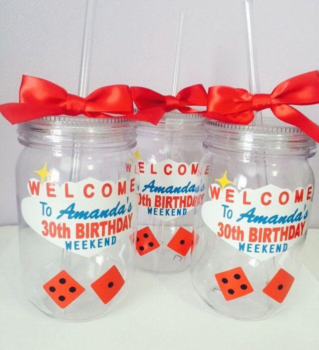 Las Vegas Theme Party Mason Jar/ Bachelorette Party /Birthday Party Personalized Mason Jar /Vegas Theme/Vegas Birthday Cup by PYdesigned on Etsy