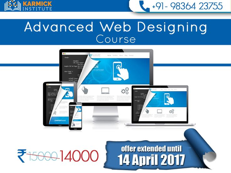 Flat discount of INR 1000 on Advanced #WebDesigning #Course at Karmick Institute. Dial: +91-9836423755/ http://goo.gl/MCCbKc #Kolkata