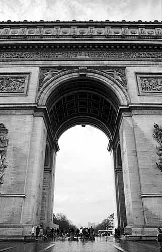 Arc de Triomphe - Don't try to cross the square to reach it. Take the underground tunnel and live a little longer. You can take the 284 steps to the top pour le sport (for the fun of it).