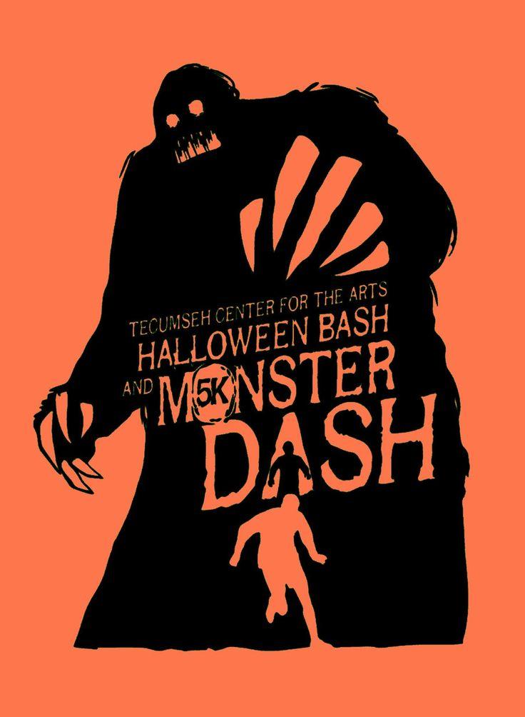 Monster Dash 5k t-shirt for TCA's Halloween Bash Saturday, October 26