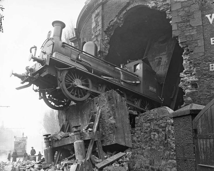 "Harcourt Street Station Train Crash: ""On 14 February 1900, a train from Enniscorthy failed to stop and went through the buffers and the wall of the station (in Dublin), sending debris over Hatch Street. Nobody was killed, though the driver, William Hyland, had his right arm amputated at the scene."""