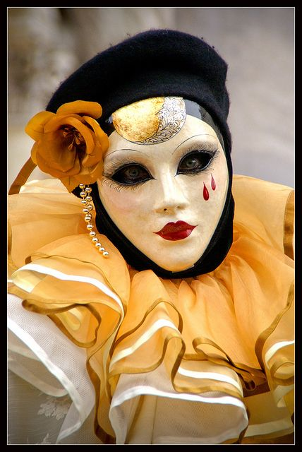 Venice carnival 2011 - Crying caramel by Megara Liancourt, via Flickr
