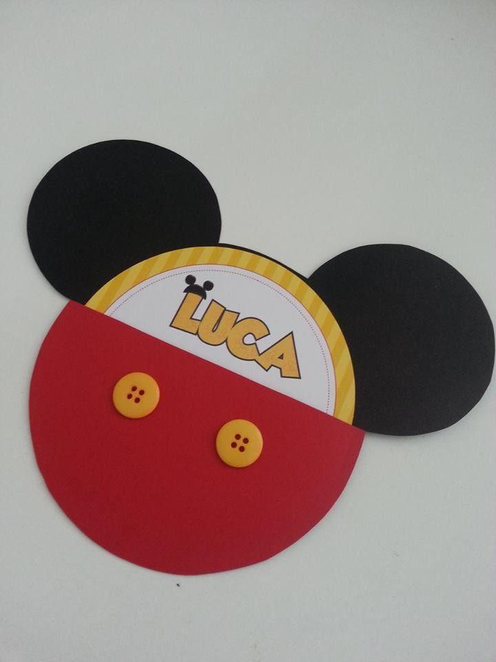 Convite Mickey Scrap                                                                                                                             Mais