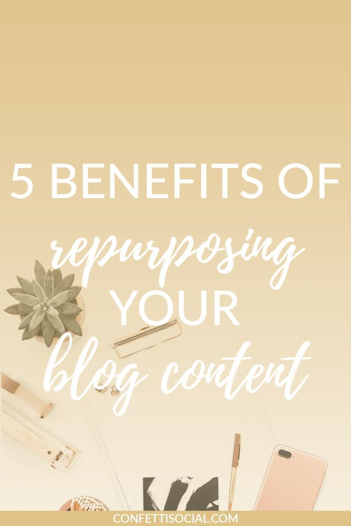 Repurposing your blog content helps you maximize your time and efforts.