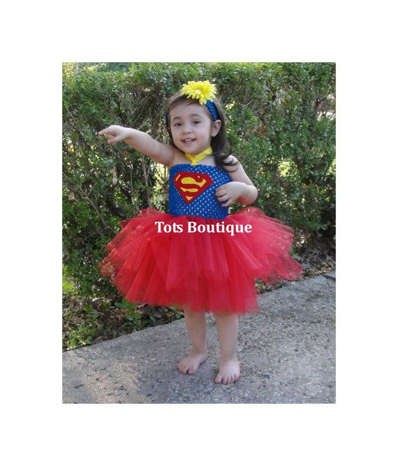 Infant Superman Tutu Dress Inspired by totsboutique on Etsy. , via Etsy.
